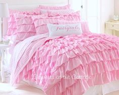 Dreamy Pink Ruffled Bedding - for when the baby girl isn't a baby anymore!