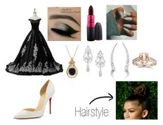 """""""Glowing in the dark♥"""" by tochuway on Polyvore featuring Reception, Christian Louboutin, Lord & Taylor, Wrapped In Love, Forevermark and Bliss Diamond"""