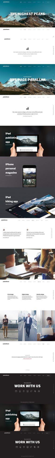 'Peaks' Digital Agency Template. HTML/CSS Themes. $29.00