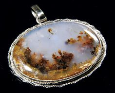 Translucient Moss Agate Pendant. Just sold to Maryland. I Gonna Leave You Baby :-( #agatependant #agate #mossagate