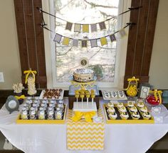 DFP mystery party dessert table by Double the Fun Parties