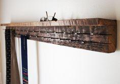 Reclaimed Wood Jewelry/Tie Organizer with Shelf . Modern Jewelry Rack with Shelf . Four Foot . Decor, Wood, Wood Decor, Tie Organization, Wood Treatment, New Homes, Wood Closet Organizers, Jewelry Rack, Reclaimed Wood Decor
