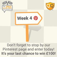 Want a shot at winning £100? Enter our Great Social Race for your chance to win!  http://offerpop.com/campaign/662563