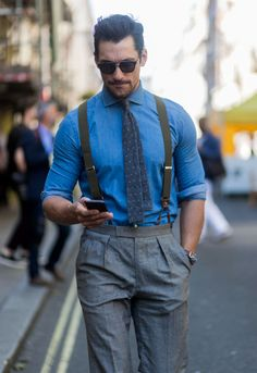 HQ - David Gandy at Day 2 of the London Fashion...