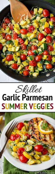 Skillet Garlic Parmesan Vegetables