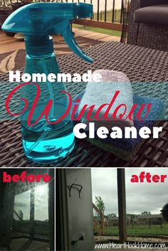 Homemade Glass Cleaner Recipes - Regular and Super Strength for Spring Cleaning http://hearthookhome.com/homemade-glass-cleaner-recipes/