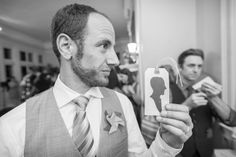 This wedding reception included a silhouette artist! | Annie & Josh's super local & alternative Washington DC wedding | Images: Knotty Photos