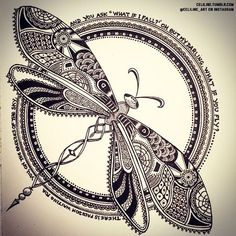 Inspiración... #zentangle #libelula More