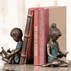 I love these!  SPI Brass Boy and Girl Bookends $216