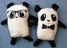 Geek Chic Panda Plush Toy with Glasses by EnglishGirlatHome