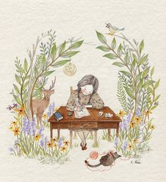 멀리..도시로 이사 간 친구에게 편지를 씁니다. 삐툴빼툴 글씨가 마음에 안 들어 다시 쓰고... 쓰다보니 횡설수설...말이 안 되어 다시 쓰고... 여러 해 단짝친구였던 그 아이에게 다시 찾아 온 고향의 봄소식을 전하고 싶습니다. 싱그러운 풀내음과 달콤한 공기...지저귀는 새소리들과.. 함께 즐거운 동물친구들... 지금쯤 그 아이도 이 곳의 봄을 많이많이 그리워하고 있겠지요... 이번엔 끝까지 잘 썼는데... 눈물 한 방울, 또르르 흘러내려와 글씨가 번지고 말았습니다...