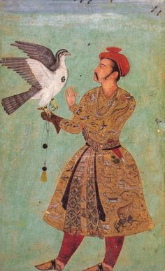 Mughal miniature, Akbar period, 1600-1605. Los Angeles County Museum of Art. / The details on that coat are magnificent!