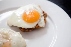Zucchini Fritters with Sunny Side Up Egg
