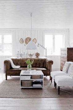 vintage sofa, leather capitone