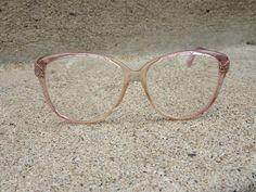 5cf2761f151 Vintage Safilo Elasta Potfolio 317 64 Oversize Pink Cotton Candy Eyeglass  Frames