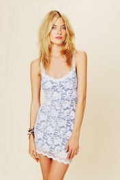 Free People Lace Cut Out Back Bodycon at Free People Clothing Boutique