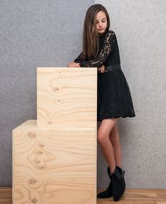 Girl's Flippy Lace Dress - Bardot Junior