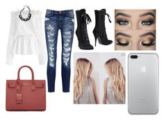 """Untitled #113"" by gracesmedley87 ❤ liked on Polyvore featuring Chicwish, Current/Elliott, Giuseppe Zanotti, ABS by Allen Schwartz and Yves Saint Laurent"