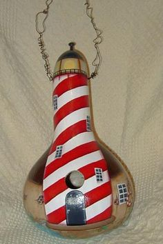 Free Gourd Crafts | Lighthouse Gourd- Front | Flickr - Photo Sharing!