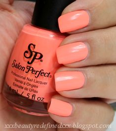 Salon Perfect Flamingo Flair I have it on now, love it! Neon coral! Get it at wal mart :)