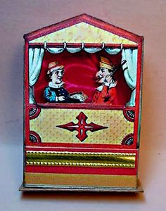 Miniature Paper Punch and Judy Puppet Show. $32.00, via Etsy.