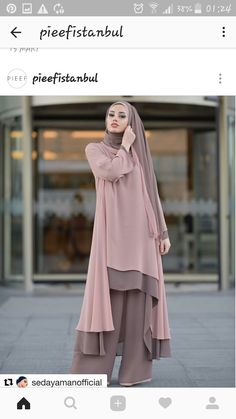 Hundreds of new looks updated every day! Islamic Fashion, Muslim Fashion, Modest Fashion, Fashion Dresses, Abaya Fashion, Fashion Mode, Girl Fashion, Fashion Muslimah, Muslim Dress