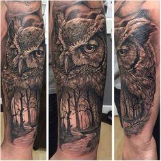 #Owl tattoo by @AlexMarquez - @alexgetink!  #savemyink