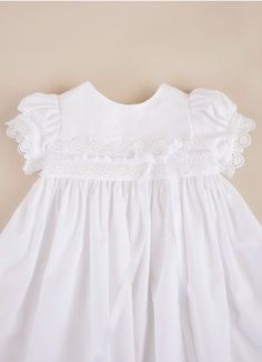 MUST BUY... look at the name of the dress Eden Cotton Christening Dress | Christening Gown for Girls
