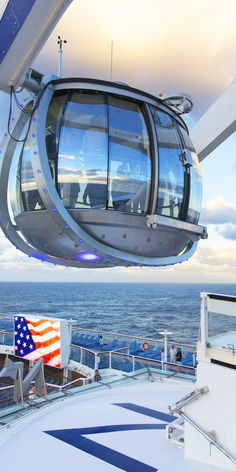 Anthem of the Seas | A trip in the North Star is perfect for guests looking to capture exquisite aerial shots of both this Oasis Class cruise ship and their natural surroundings.