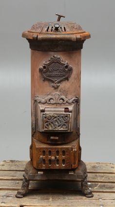 Old rusty iron heating stove