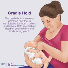 There's a reason it's called the cradle hold: This position brings baby and mom close together. #whatsyourhold