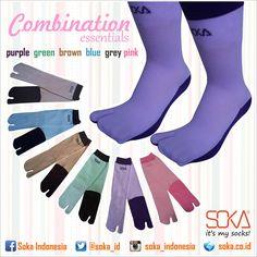Essentials Combination by Soka  material : Spandex Nylon  #soka #socks #kaoskaki #sokasocks #kaoskakisoka #color #MySocks #Style #Fashion