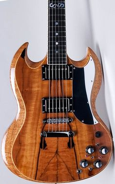 "Zappa's modified SG ""Baby Snakes"" Guitar."