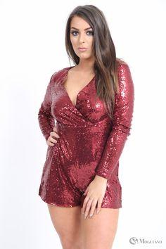 3d49149b7f Ladies red sequin open back playsuit wholesale - Women s Wholesale Clothing  Supplier