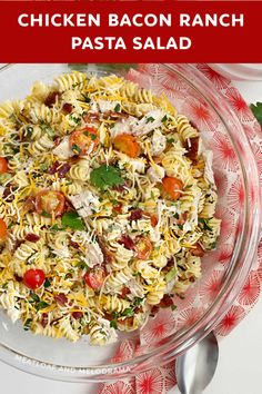 Pasta Dinners, Salad Recipes For Dinner, Easy Pasta Recipes, Chicken Bacon Ranch Pasta Salad Recipe, Quick Healthy Meals, Easy Meals, Meal Prep For The Week, Have Time, Potlucks