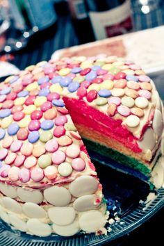Rainbow wedding cake?