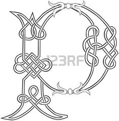 A Celtic Knot-travail Lettre Capital P silhouette stylis�e photo