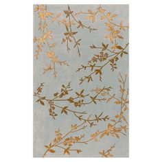 Stylishly anchor your living room or master suite with this lovely hand-tufted wool rug, showcasing a budding vine motif in dove gray and mocha. Floral Area Rugs, Floral Rug, Blue Area Rugs, Floral Motif, Hollywood Regency, Deco Boheme, Rectangular Rugs, Blog Deco, Bling