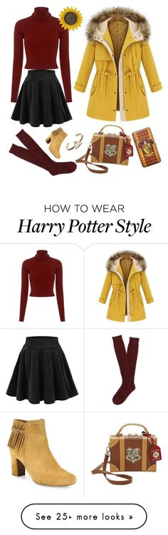 """""""Gryffindor Style"""" by itsmenay on Polyvore featuring A.L.C., Aéropostale, Tabitha Simmons and Warner Bros."""