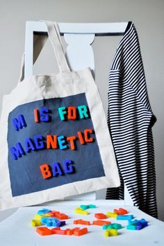☆Diy Magnetic Tote Bag  •  Free tutorial with pictures on how to make an embellished tote in under 20 minutes- quite easy to make, however does require multiple coats if you want it to be really magnetized