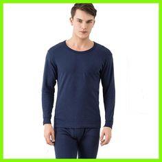 Long johns men thermal underwear sets thin long sleeve undershirt+underpants