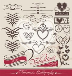 Europeanstyle heartshaped lines vector Vector Heart - Free vector for free download
