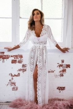 Willow Long Lace robe
