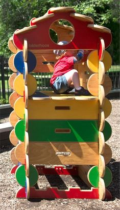 American-made, sustainable, and larger-than-life creativity. Kids easily build impressive structures while stretching their imaginations. Woodworking Projects For Kids, Woodworking Toys, Wood Projects, Wooden Playset, Wooden Playhouse, Waldorf Montessori, Lincoln Logs, Building For Kids, Creative Play
