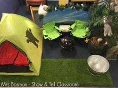 Show and Tell Classroom - Camping Role Play - Home Corner - Image credit Francis Bosman