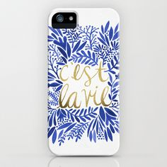 Buy That's Life – Gold & Blue by Cat Coquillette as a high quality iPhone & iPod Case. Worldwide shipping available at Society6.com. Just one of millions…