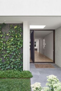 Architecture by Garden Design by me. House built by Garden built by 📸… Door Design, Exterior Design, Interior And Exterior, House Design, Room Interior, Australian Architecture, Architecture Design, Future House, House Entrance