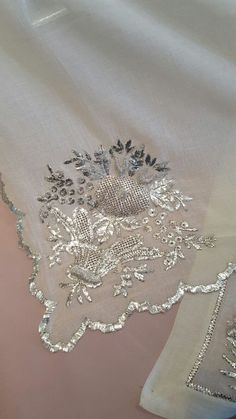 This Pin was discovered by Gül Zardozi Embroidery, Hand Embroidery Dress, Wedding Embroidery, Bead Embroidery Patterns, Embroidery Suits Design, Couture Embroidery, Indian Embroidery, Embroidery Fashion, Hand Embroidery Designs