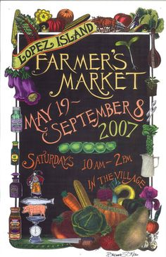 Lopez Island Farmers Market poster