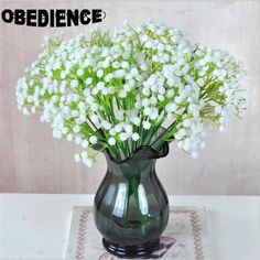 OBEDIENCE White Moisturizing Artificial Sky Stars Flower PU Simulation Flowers Accessory Bridal Bouquets Home Wedding Decoration